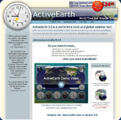 ActiveEarth Desktop Clock