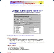 College Admissions Predictor
